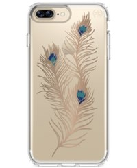Speck Presidio Clear Graphic Iphone 7 Plus Case Showyfeather Gold Clear