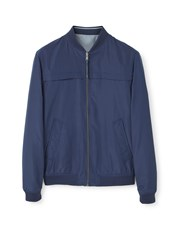 Mango Reversible Bomber Jacket Navy