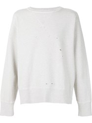 Levi's Vintage Clothing Distressed Sweatshirt Nude And Neutrals