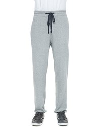 James Perse Classic Drawstring Sweatpants Heather Gray Light Gray