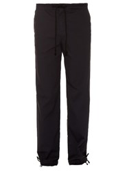 Raey Drawstring Waist Ripstop Trousers Navy