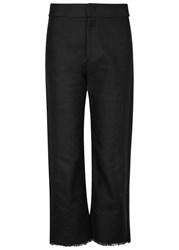 Isabel Marant Stella Cropped Cotton Blend Trousers Black