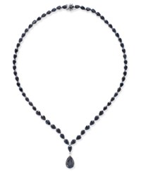 Macy's Black Sapphire Collar Necklace 28 Ct. T.W. In Sterling Silver