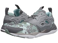 Reebok Furylite Candy Girl Flat Grey Shark Cool Breeze Silvery Green Winter Sage White Women's Shoes Gray
