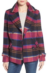 Kut From The Kloth Women's Katherine Plaid Wool Blend Peacoat
