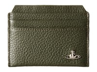 Vivienne Westwood Leather New Credit Card Holder Green Credit Card Wallet