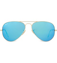 Ray Ban Pearlescent Lens Pilot Sunglasses Rb3025 Matte Gold
