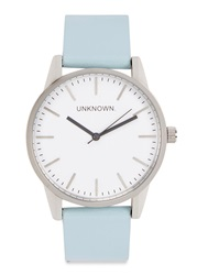 Unknown Watches The Classic Silver Tone Watch Light Blue