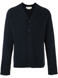 Marni V Neck Cardigan Blue