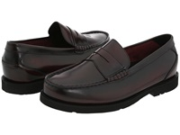 Rockport Oak Knoll Shakespeare Circle Burgundy Brush Off Men's Slip On Dress Shoes