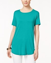 Jm Collection Short Sleeve Scoopneck Top Only At Macy's Urban Aqua