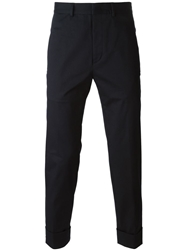 Iceberg Cropped Tailored Trousers Blue