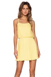 Blaque Label Pleated Tank Dress Yellow