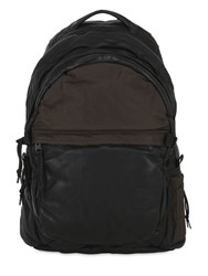 Allsaints Shoto Soft Leather And Nylon Backpack