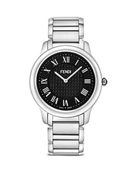 Fendi Large Stainless Steel Classico Watch 40Mm