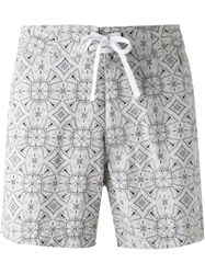Woolrich Abstract Print Swim Shorts
