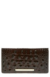 Brahmin Women's 'Tillie' Croc Embossed Leather Wallet Brown Quartz