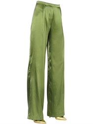 Capucci Stretch Silk Satin Wide Leg Pants
