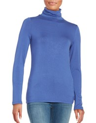 Lord And Taylor Long Sleeve Turtleneck Top Azure Blue