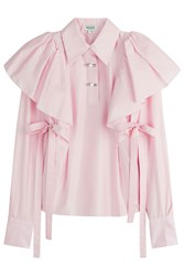 Kenzo Cotton Shirt With Self Tie Bows Rose