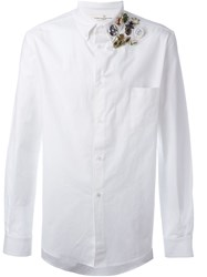 Golden Goose Deluxe Brand Pin Detail Shirt White