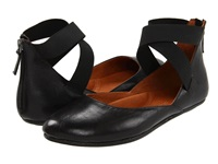 Gentle Souls Bay Unique Black Leather Women's Flat Shoes