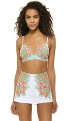 Mara Hoffman Embroidered Bra Top White