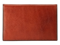 Bosca Card Case Amber Credit Card Wallet Bronze