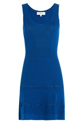 Carven Stretch Dress With Cut Out Detail Blue