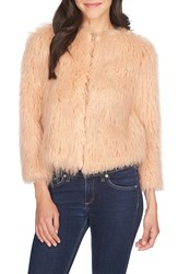 1.State Faux Fur Coat Amberwood