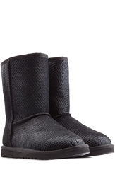 Ugg Embossed Calf Hair Boots