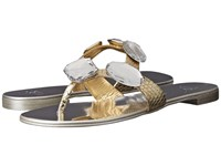 Giuseppe Zanotti Flat Jeweled Thong Sandal Bloods Oro Women's Toe Open Shoes Gray