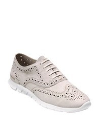 Cole Haan Zero Grand Suede Wingtip Oxfords White