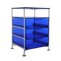 Kartell Mobil 3 Drawer Tray Blue