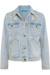 Mih Jeans Embroidered Denim Jacket Mid Denim