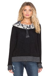 Gypsy 05 French Terry Cowl Neck Hoodie Black