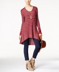 American Rag Printed Waffle Knit High Low Tunic Only At Macy's