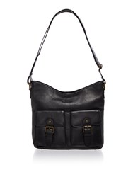 Barbour Leather Shoulder Bag Black