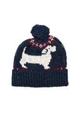 Thom Browne Hector Fair Isle Hat In Blue Animal Print Blue Animal Print