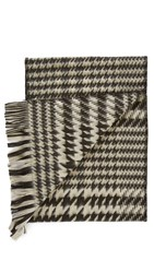 Our Legacy Houndstooth Scarf Black White