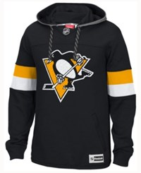 Reebok Men's Pittsburgh Penguins Jersey Pullover Hoodie Black