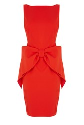Coast Glamour Bow Dress Red