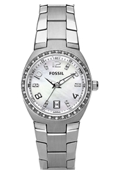 Fossil Crystal Dial Watch 28Mm Silver