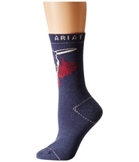 Ariat George Crew Socks Blue Women's Crew Cut Socks Shoes