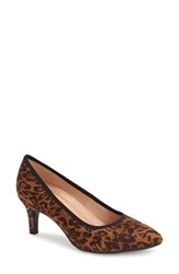 Women's Naturalizer 'Oath' Pointy Toe Pump Leopard Print Fabric