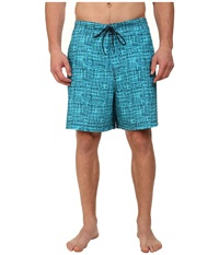 Nautica Big Tall Abstract Trunk Aqua Isle Men's Swimwear Blue