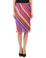 Escada Sport Knee Length Skirts Purple