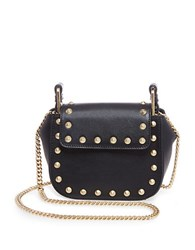 Brian Atwood Ricki Leather Crossbody Bag Black