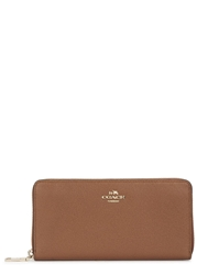Coach Clay Grained Leather Wallet Tan