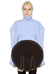 Jacquemus Oversized Shoulders Wool Sweater